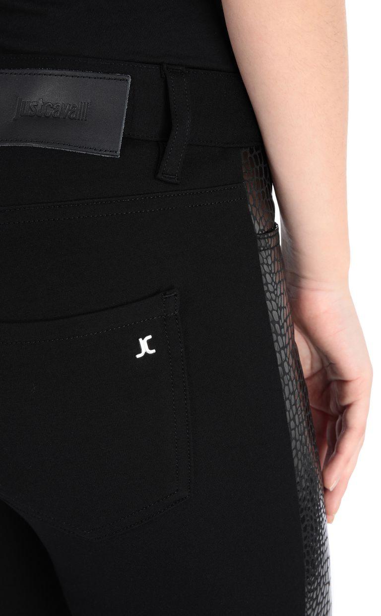 JUST CAVALLI Crocodile-print trousers Casual pants Woman e