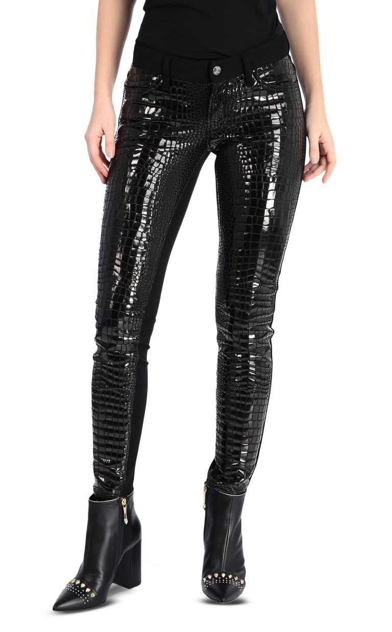 JUST CAVALLI Crocodile-print trousers Casual pants Woman f