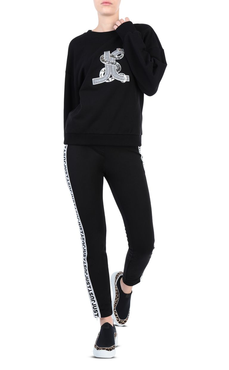 JUST CAVALLI Track trousers with designer logo Casual pants [*** pickupInStoreShipping_info ***] d