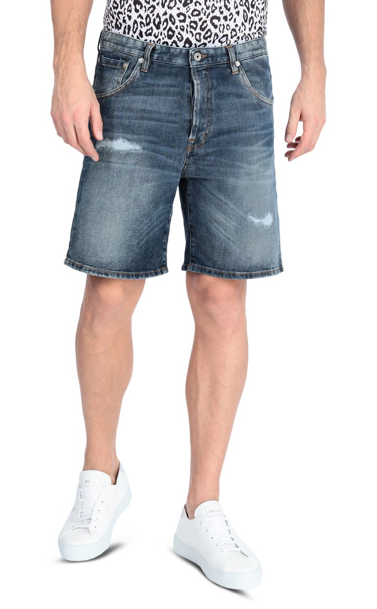JUST CAVALLI Denim shorts Shorts Man f