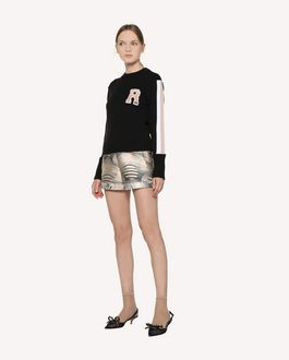 REDValentino Floating Moons brocade shorts