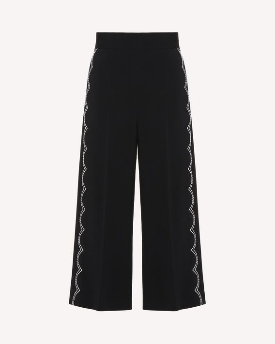 REDValentino Frisottine trousers with scalloped dotted line embroidery