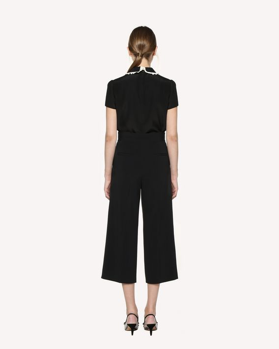 REDValentino Frisottine pants with scalloped dotted line embroidery