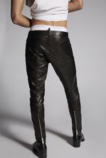 DSQUARED2 Lamb Leather Biker Pants Trousers Man