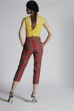 DSQUARED2 Scottish Check Dennis Pants Trousers Woman