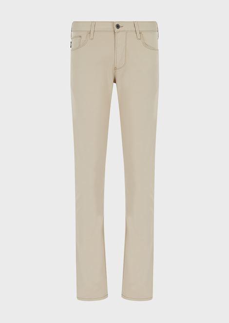 Slim-fit J06 jeans in cotton twill denim