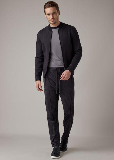 Jogger trousers in Alcantara-effect fabric