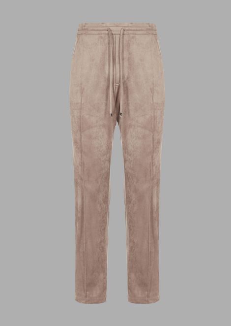 Jogger trousers in Alcantara-effect fabric