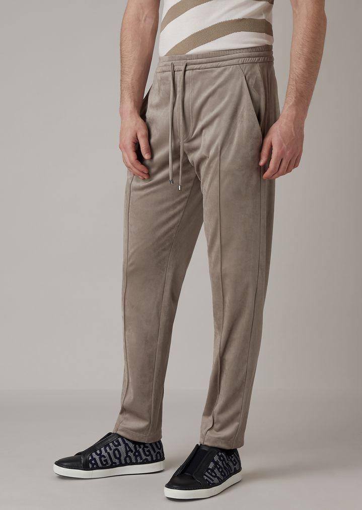 71cf9e3009 Jogging pants in Alcantara-effect fabric