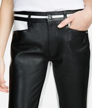 KARL LAGERFELD Cropped Leather Pants 9_f