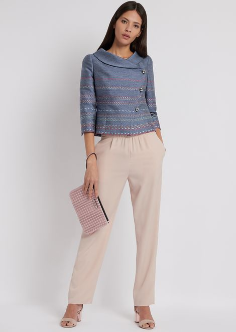 Palazzo trousers with elasticated waist