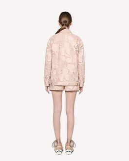 REDValentino Floral macramé shorts