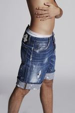 DSQUARED2 Splashed Cuff Boxer Shorts Shorts Man