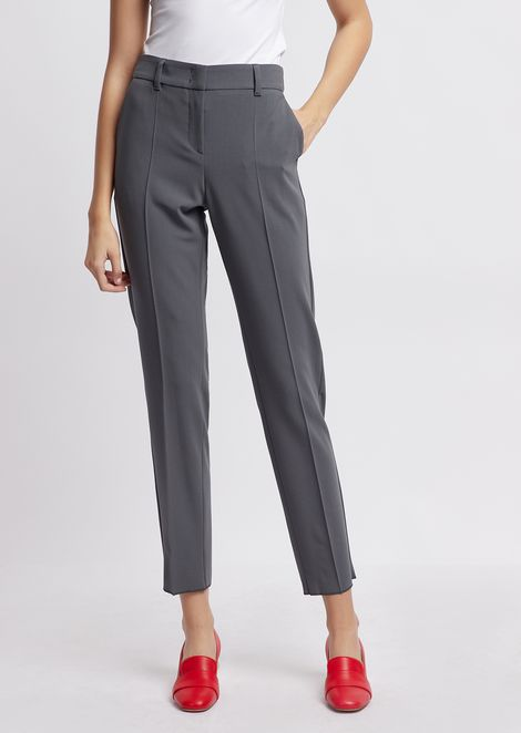Pantalones pitillo de crepé