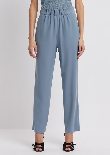 Palazzo pants with stretch waist