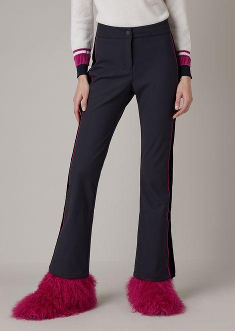 Waterproof, padded technical ski pants with velvet band