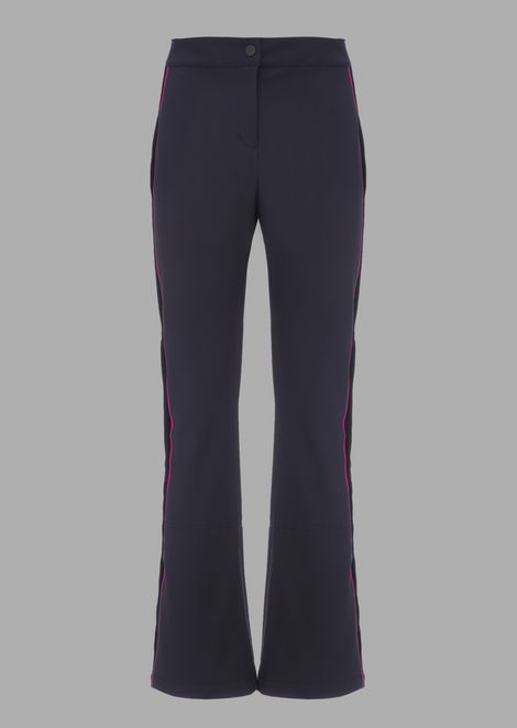 Waterproof, padded technical ski trousers with velvet band