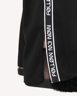 "REDValentino ""Follow Me Now"" jersey pants with ribbon details"