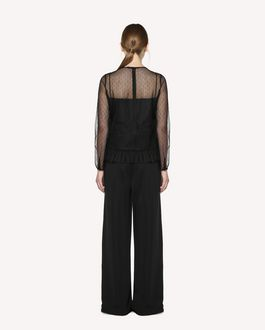 "REDValentino ""Follow Me Now"" jersey trousers with ribbon detail"