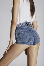 DSQUARED2 Acid High Waist Hot Denim Shorts Shorts Woman