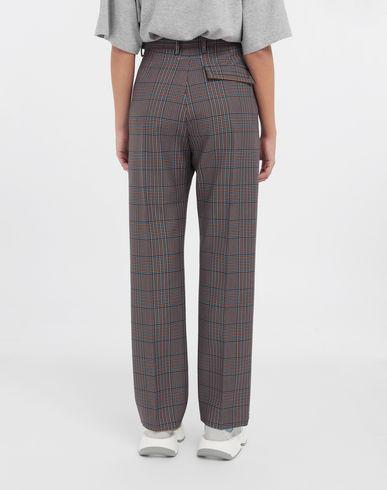 PANTS Checked straight-leg pants