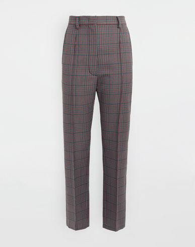 MM6 MAISON MARGIELA Trousers [*** pickupInStoreShipping_info ***] Checked straight-leg pants f