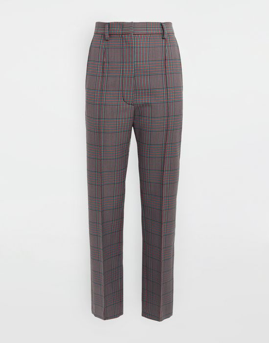 MM6 MAISON MARGIELA Checked straight-leg pants Casual pants [*** pickupInStoreShipping_info ***] f