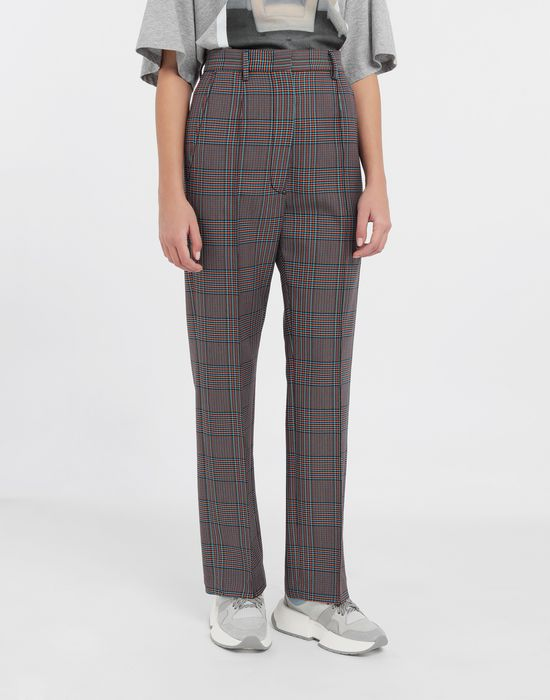 MM6 MAISON MARGIELA Checked straight-leg pants Casual pants [*** pickupInStoreShipping_info ***] r