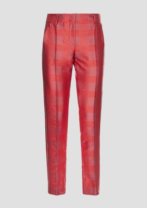 Geometric jacquard pants