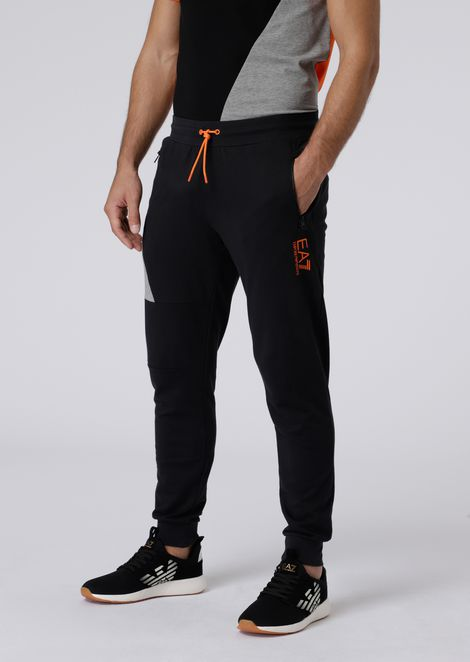Cotton jogging trousers with contrasting logo