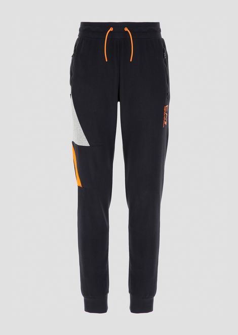 Cotton jogging pants with contrasting logo