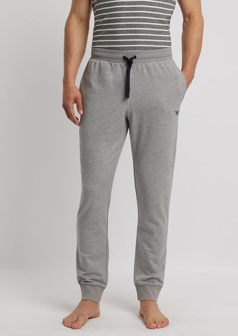 Logomaniac Terry loungewear pants with drawstring at waist