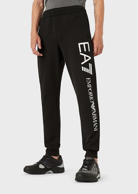5bebac33fd8 Cotton jogging pants with contrast logo