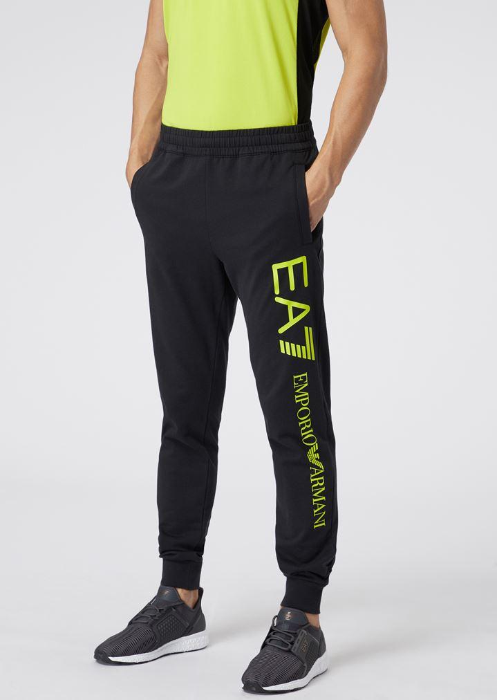 34a114431792 Jogginghose aus Baumwolle mit Logo in Kontrastfarbe