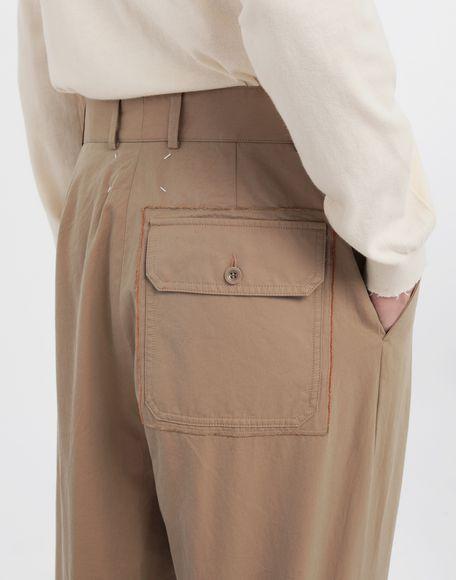 MAISON MARGIELA Décortiqué pocket wide-leg trousers Casual pants Man b