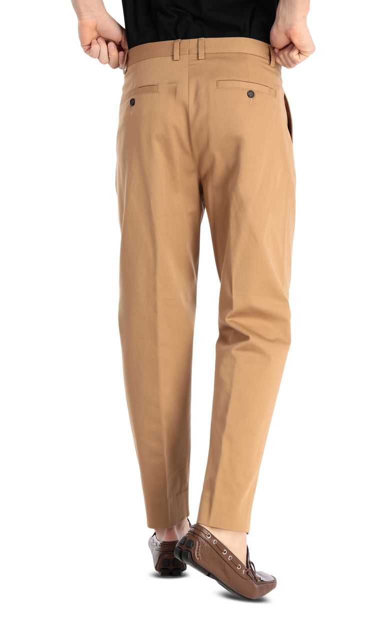 JUST CAVALLI Chino pants with leopard-print band Casual pants Man r