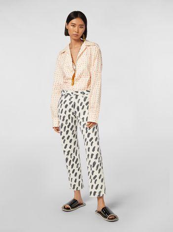 Marni 5-pocket denim pants with Gea print Woman