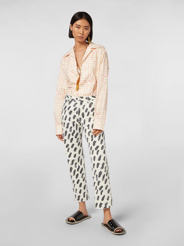 Marni 5-pocket denim pants with Gea print Woman - 1