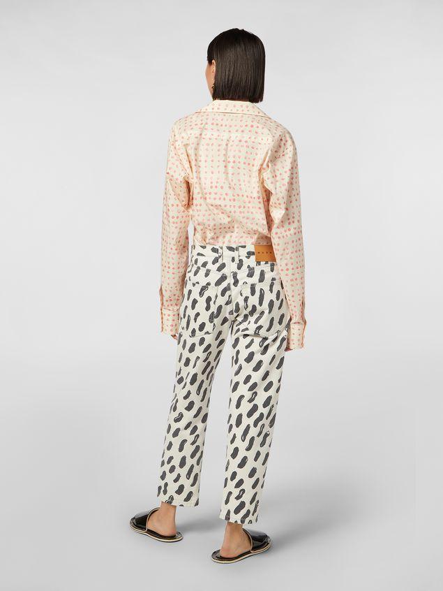 Marni 5-pocket denim pants with Gea print Woman - 3