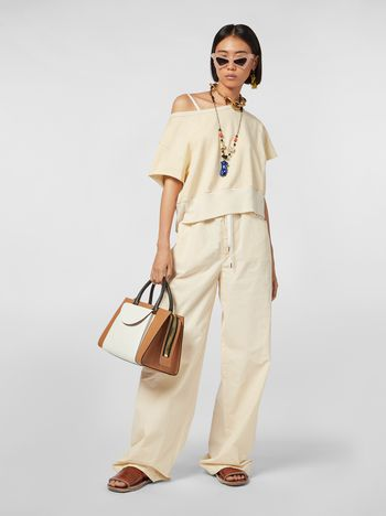 Marni Drawstring pants in washed compact cotton Woman
