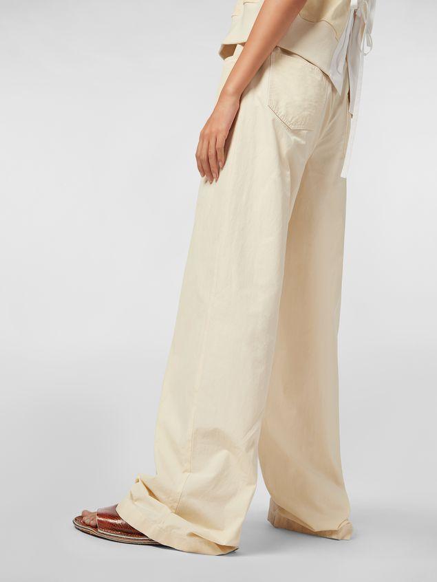 Marni Drawstring pants in washed compact cotton Woman - 5
