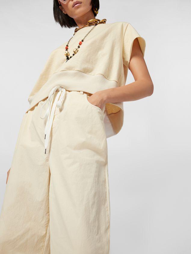Marni Drawstring pants in washed compact cotton Woman - 4