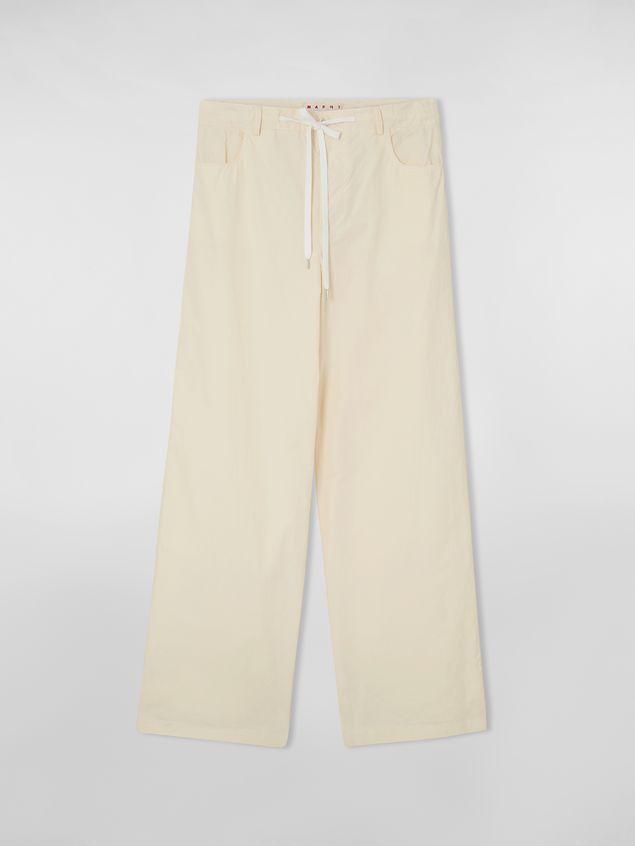 Marni Drawstring pants in washed compact cotton Woman - 2