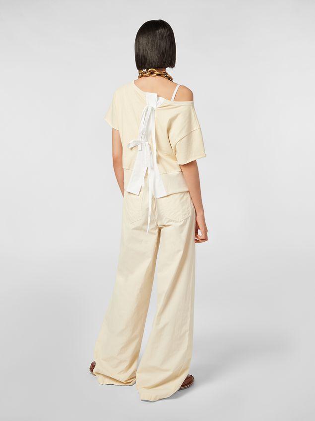 Marni Drawstring pants in washed compact cotton Woman - 3
