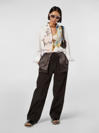 Marni Patch-pocket pants in cotton Woman