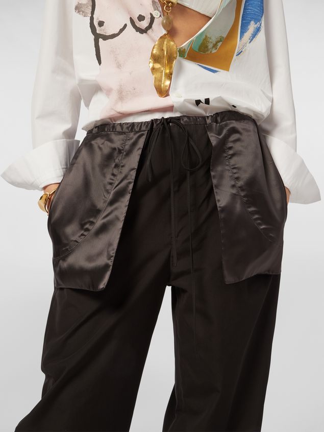 Marni Patch-pocket pants in cotton Woman - 4