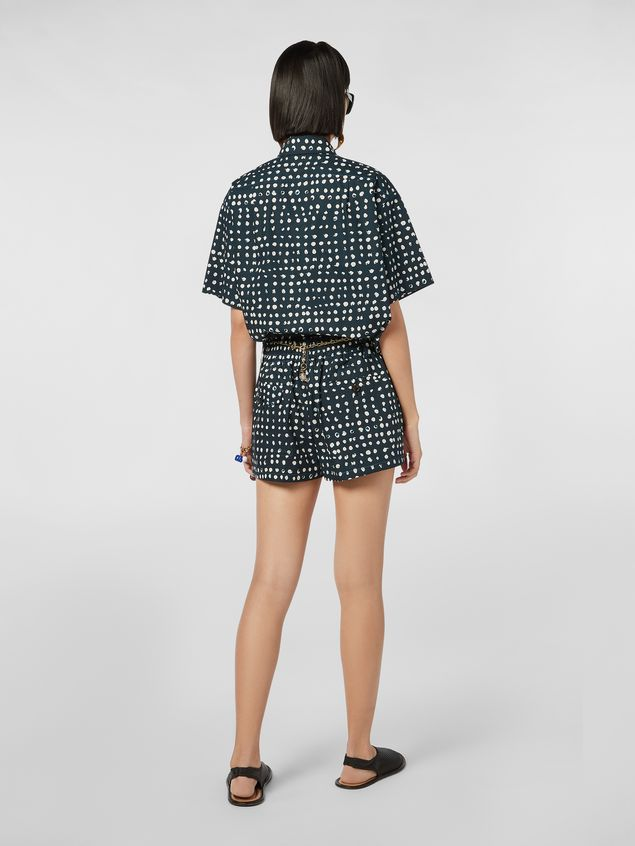 Marni Cotton shorts with Cerere print Woman