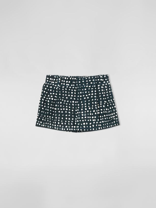 Marni Cotton shorts with Cerere print Woman - 2