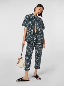 Marni Pants in cotton poplin Cerere print Woman