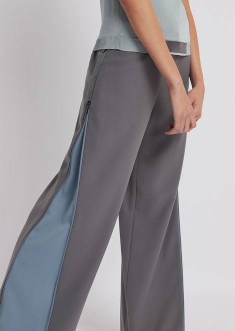 Pants in cady fabric with side insert with zipper